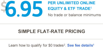 $6.95 per unlimited online equity and ETF trade