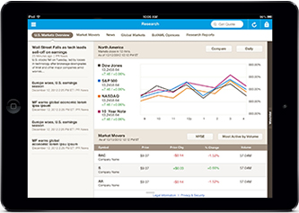 Manage your investment portfolio and place trades from your iPad or tablet.