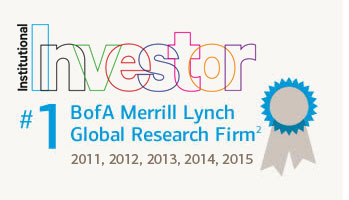 Merrill Lynch named #1 Global Research Firm by Institutional Investor