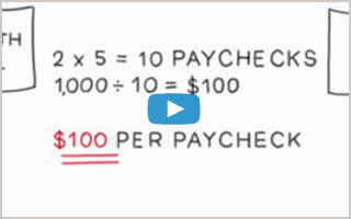 Watch Tips for saving for a large purchase.