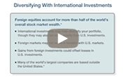 Watch this video on diversifying your portfolio with international investments