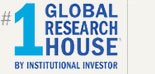 No. 1 Global Research House by Institutional Investor