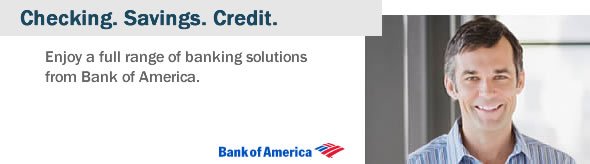 Enjoy a full range of banking solutions from Bank of America.